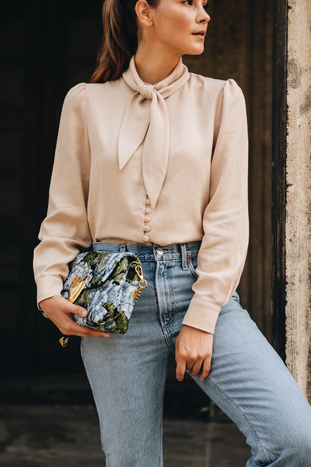 Jeans mit Bluse