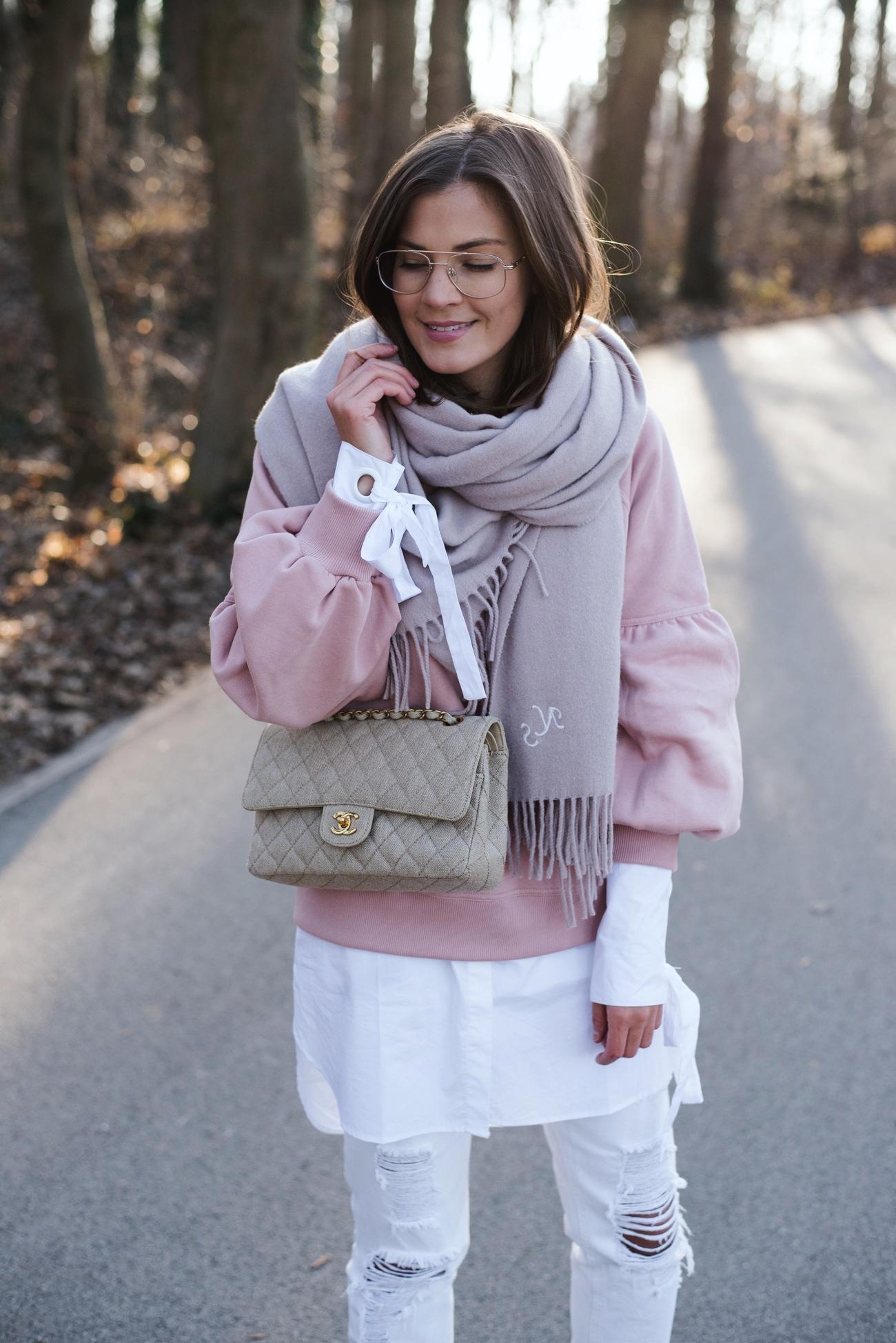 Hemdbluse mit Sweatshirt
