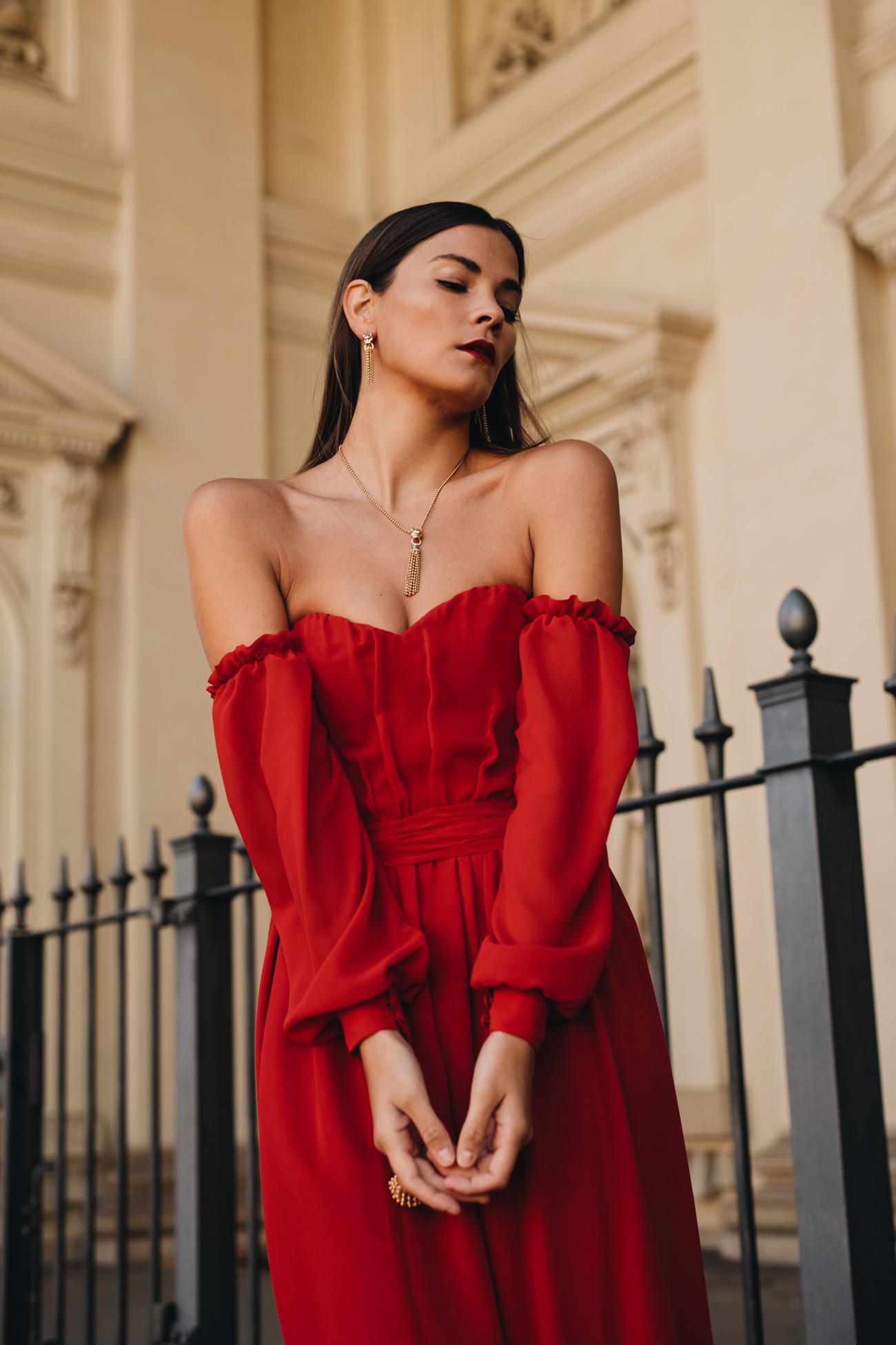 Modetrends 2020: drappierte Abenkleider