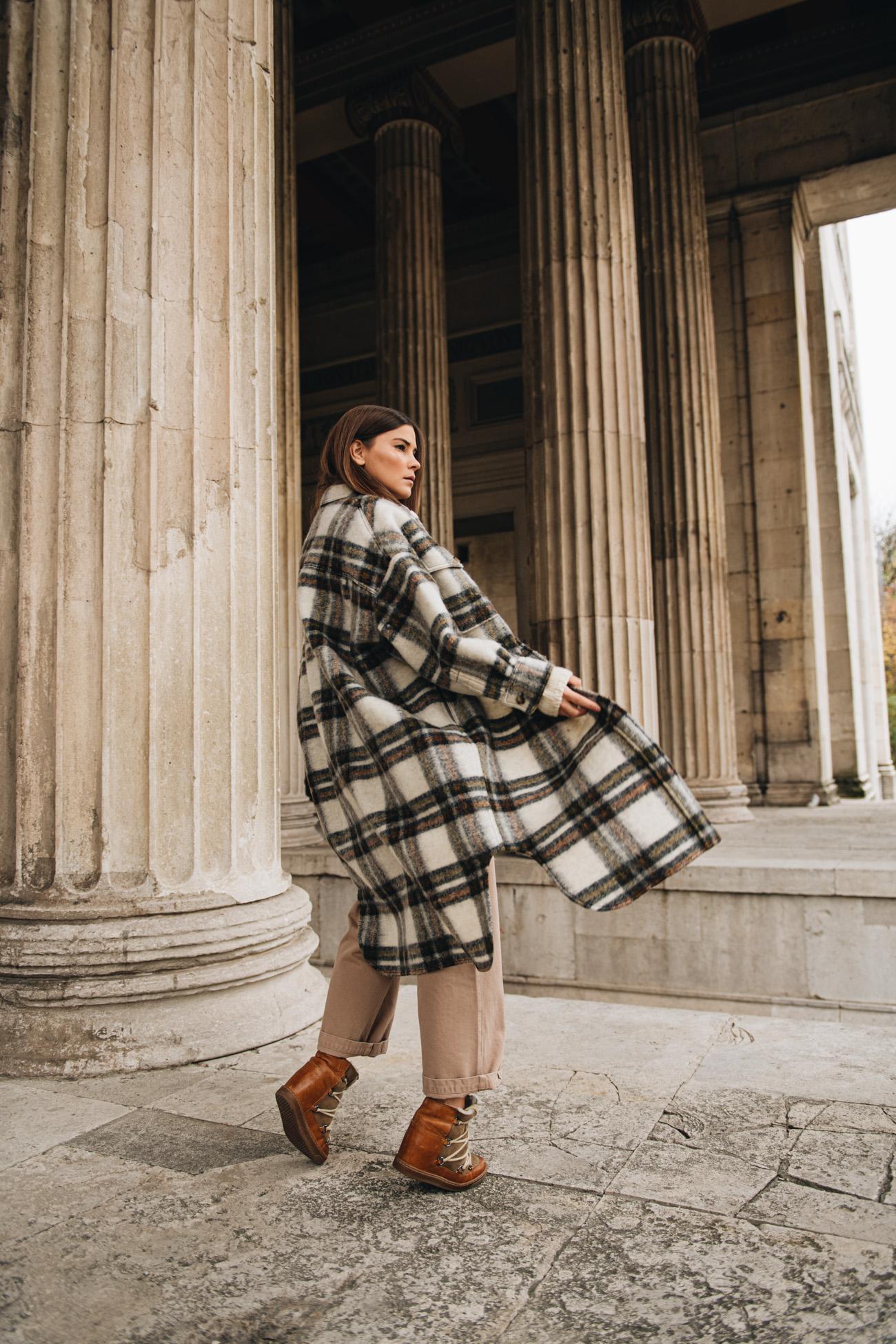 Isabel Marant Mantel Kariert aus Wolle