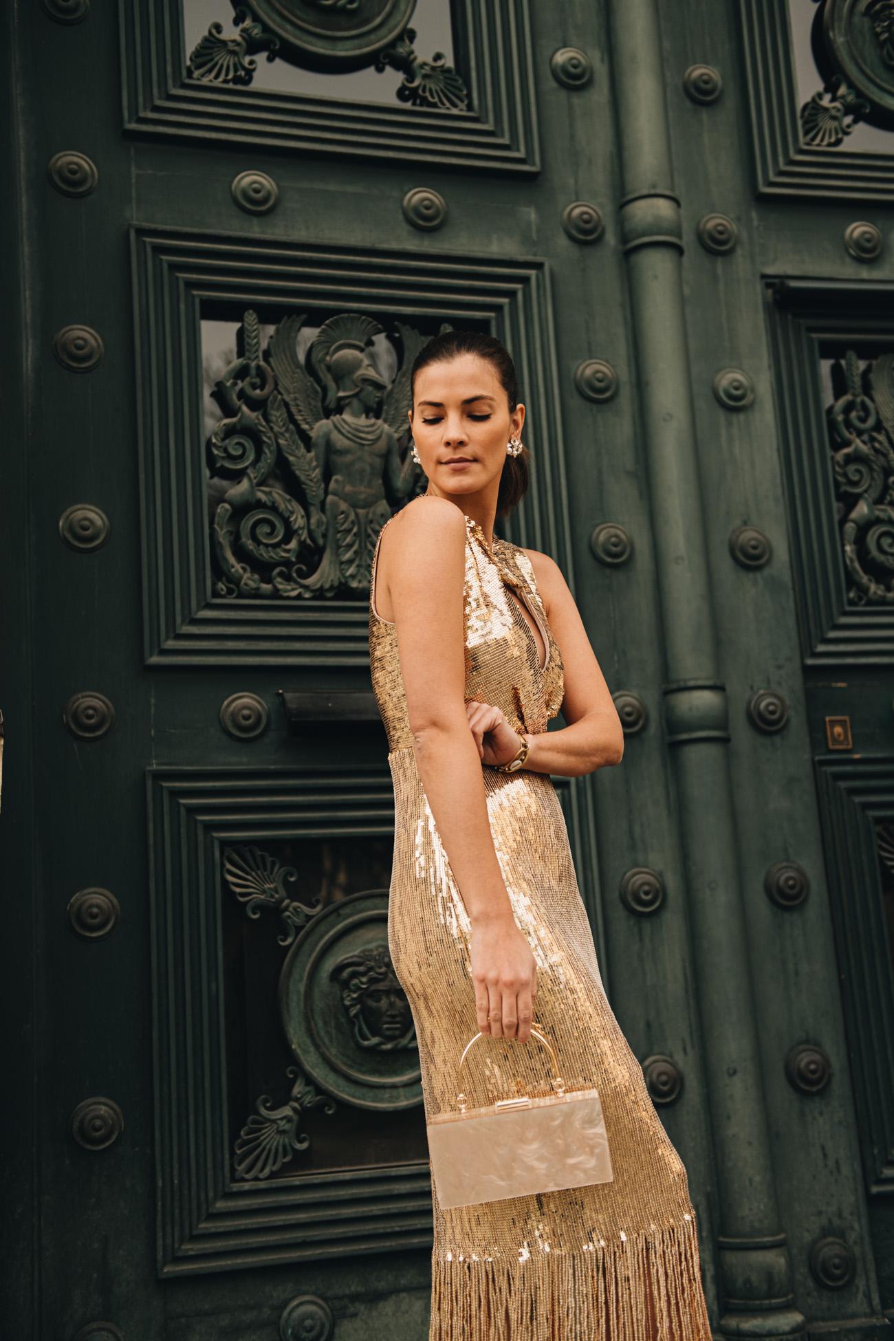 Silvester Kleid Gold