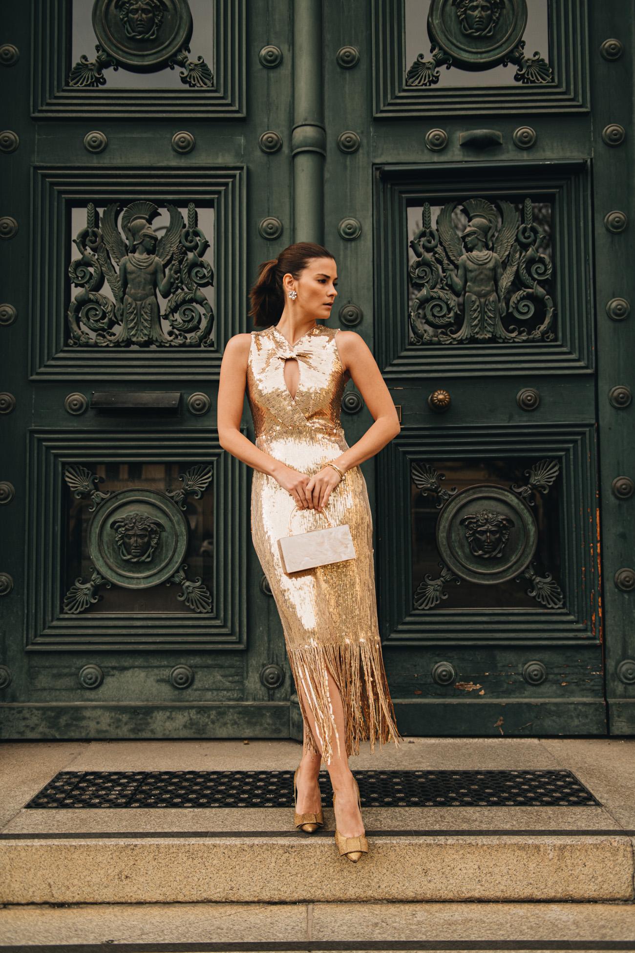 Paillettenkleid in Gold
