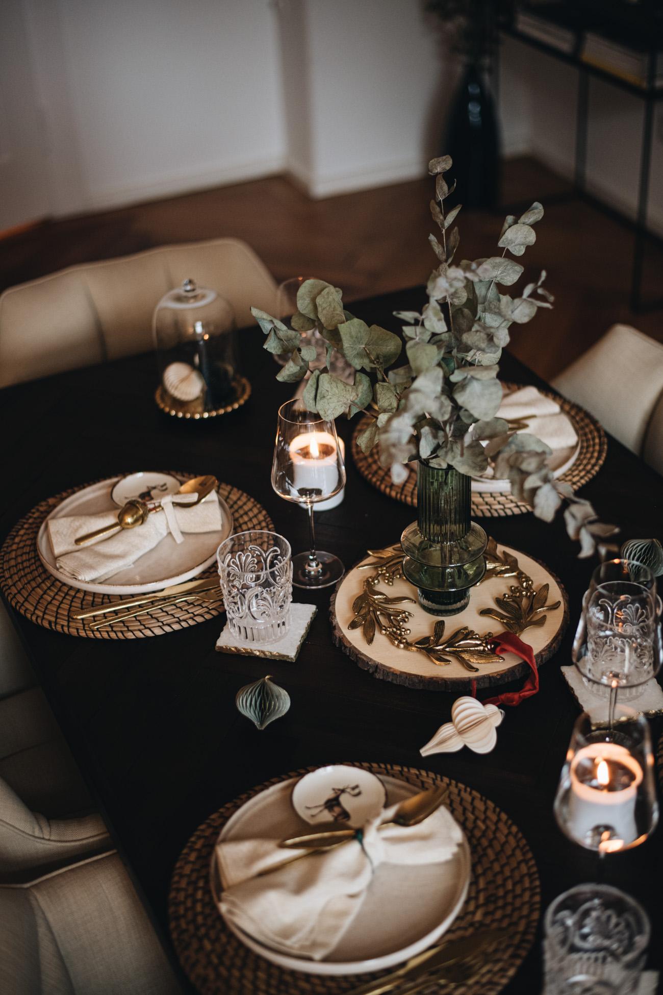 zeitlose Tischdekoration für Weihnachten