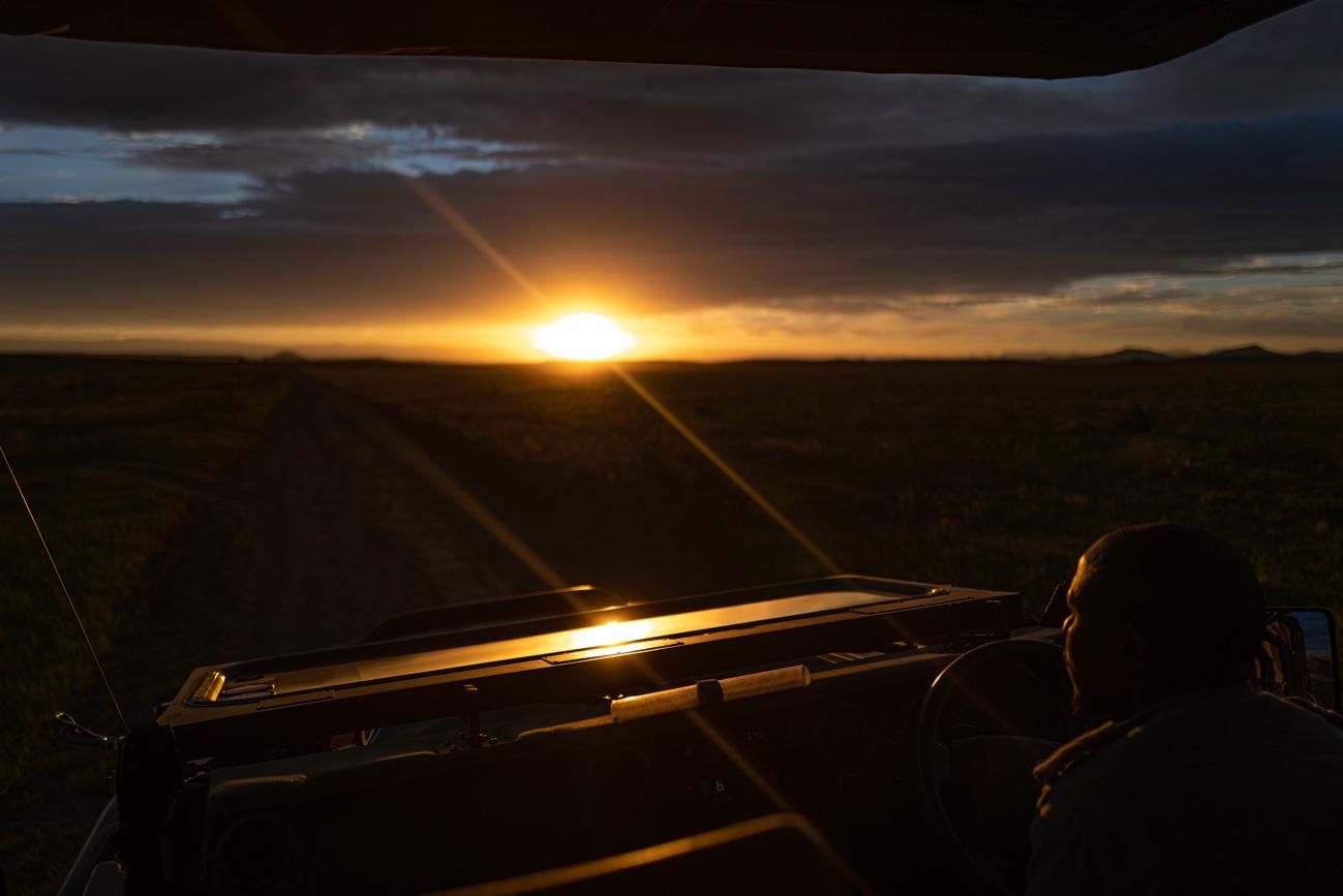 Sonnenuntergang Nambiti Hills