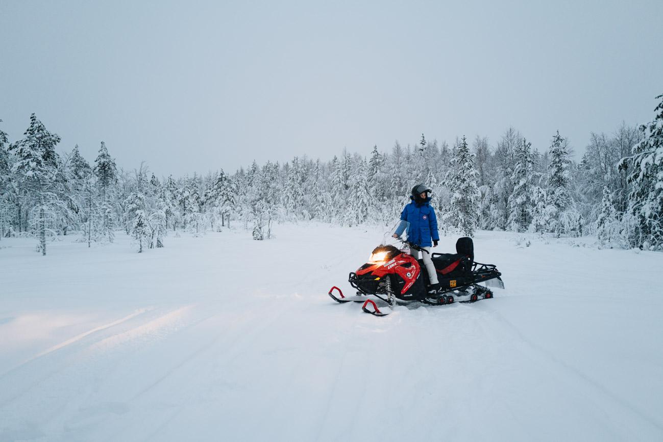 Schnee Mobil Tour Lappland
