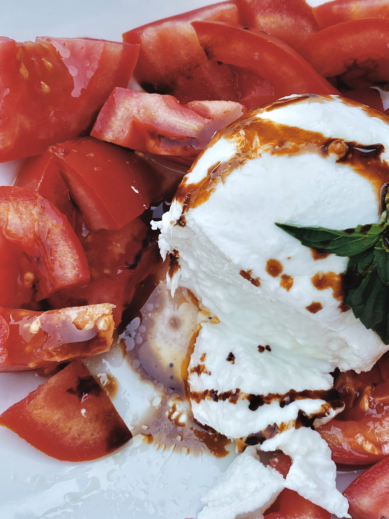 Burrata Salat Gericht